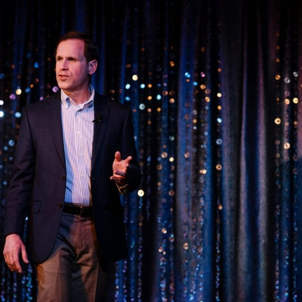 Caregivers Connect Event - photo of Aaron Blight speaking